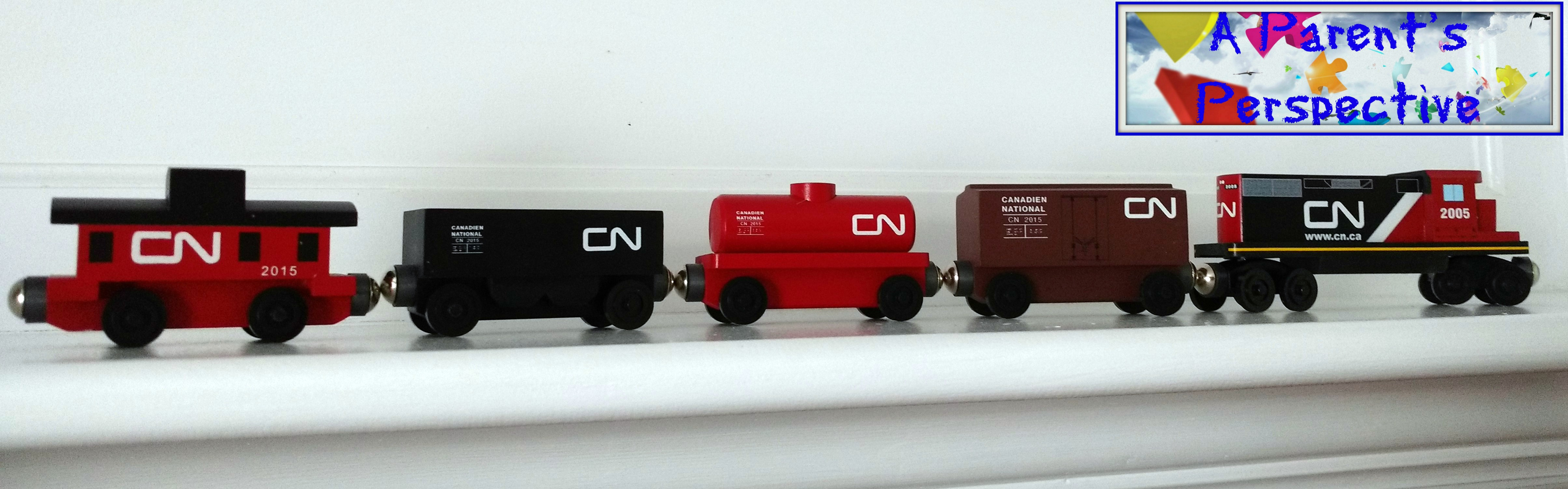 Whittle Shortline Railroad Canadian National Wooden Train